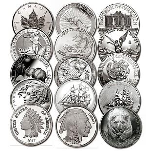 Various Silver Bullion Rounds