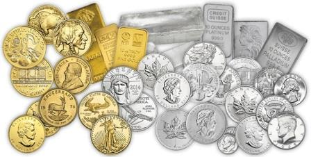 Various pieces of gold