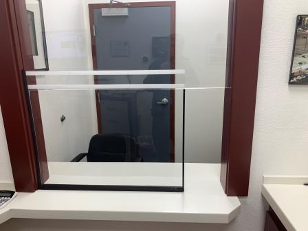 plexiglas service windows